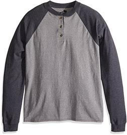 Hanes Men's Long-Sleeve Beefy Henley T-Shirt - Large - Oxfor