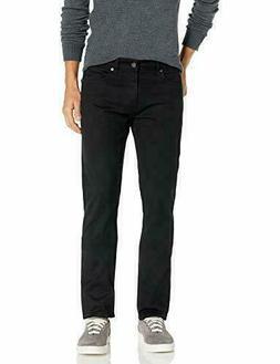 Lee Men's Modern Series Slim Fit Tapered Leg Jean Black Size