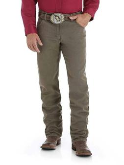 WRANGLER Men's Premium Regular Fit Cowboy Cut Khaki Boot Cut