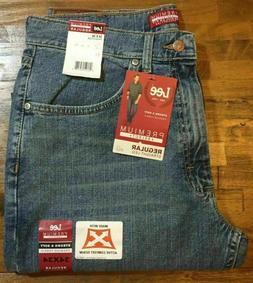 Men's LEE Regular Fit Straight Leg 34x34 Blue Denim Jean Act