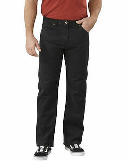 "DICKIES MEN""S REGULAR FIT STRAIGHT LEG 6-POCKET JEAN RINSED"