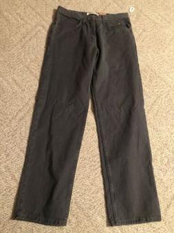 Lee Men's Regular Fit Straight Leg Jeans Dark Gray New With