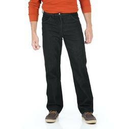 Wrangler Men's Regular Fit Stretch Jeans, Black, 44X30