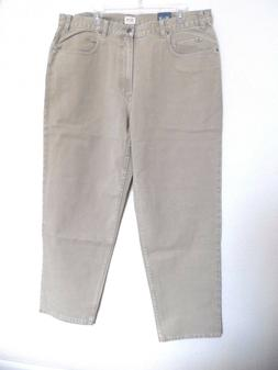 Cherokee Men's Relaxed Fit Jeans, Beige Size: 40x32