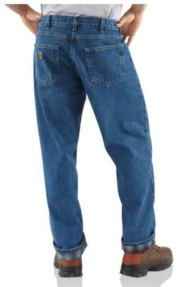 Carhartt Men's Relaxed Fit Straight Leg Flannel Lined, 34 x