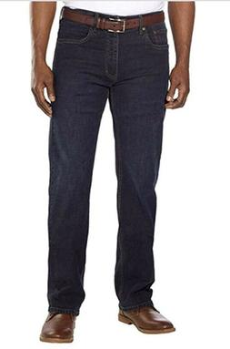 Urban Star Men's Relaxed Fit Straight Leg Jeans Midnight Blu