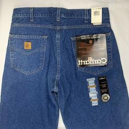 Carhartt Men's Relaxed Fit Straight Leg Jeans B18 DST Dark S