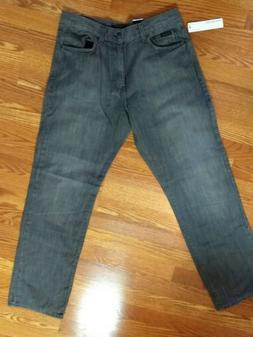 CALVIN KLEIN Men's Relaxed Straight Leg Jeans Gray Size 34/3