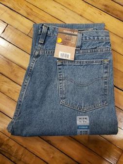 Carhartt Men's Size 38x34 B460 Blue Relaxed Fit Straight Leg