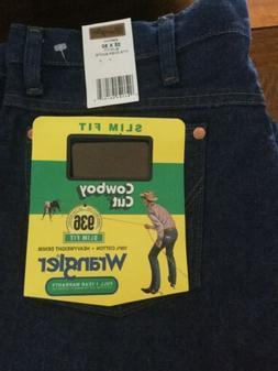 Wrangler Men's Slim Fit Original Cowboy Cut Jeans Blue 35 x