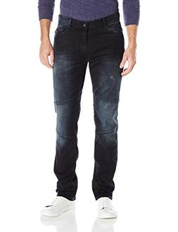 Calvin Klein Jeans Men's,Slim Straight Fit Denim Moto Jean,