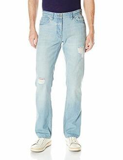 Calvin Klein Jeans Men's Slim Straight Jean DESTRUCTED BLUE