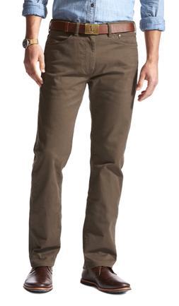 Men's Dockers Soft Stretch Jean Cut Straight-Fit Pants Brown