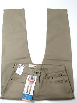 Men's Wrangler STRAIGHT FIT Flex Khaki Jeans Beige ACTUAL 30