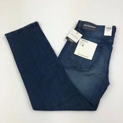 Calvin Klein Men's Straight Fit Stretch Jeans Andres Blue Da