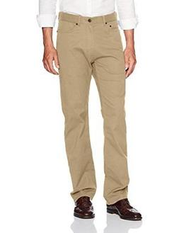 Haggar Men's Stretch Comfort Twill Expandable Waist Relaxed