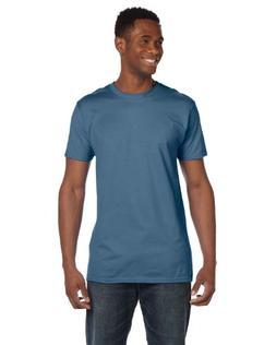 Hanes mens 4.5 oz. 100% Ringspun Cotton nano-T T-Shirt-Denim