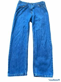 dockers mens blue denim relaxed fit jeans size 34 x 30