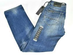 Buffalo David Bitton Mens Blue Jeans Evan-X Slim Straight Su