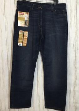 Wrangler Mens Blue Jeans Relaxed Fit 5 Star Premium Denim Si
