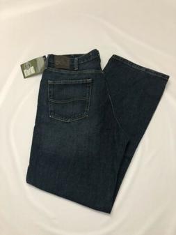 LEE Mens Dark Blue Denim Jeans Pants Size 36 x 32 Relaxed Fi