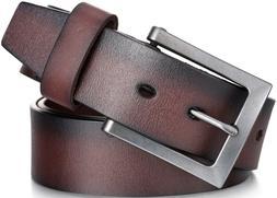 Marino Avenue Men's Genuine Leather Belt, Classic Jean Sty