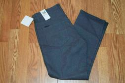 Mens Calvin Klein Gray Dark Cliff Heather Straight Leg Jeans