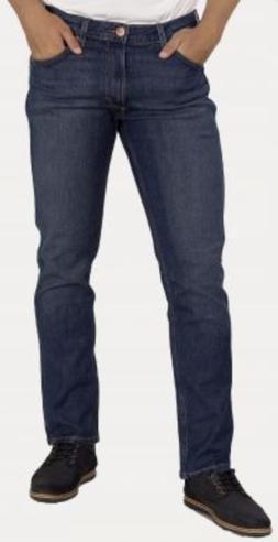 Mens Wrangler Greensboro Straight Stretch Fit Jeans Indigo W