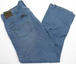 Mens Lee Jeans 36x29 Regular Fit Stretch Straight Leg Light