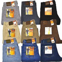 Lee Mens Jeans Regular Fit Denim Straight Leg Classic 20089
