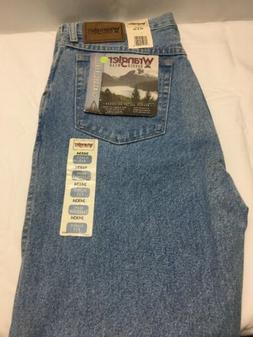 Wrangler Men's Jeans Rugged Wear Classic Fit  Blue Denim S