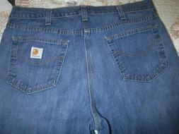 Carhartt Mens Jeans Traditional Fit Size 38 x 36