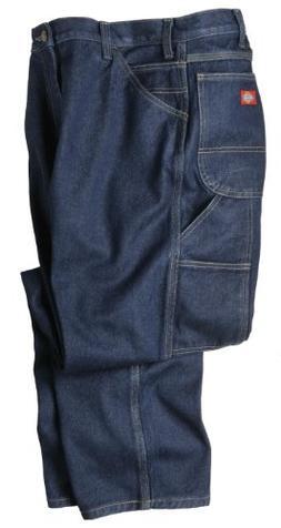 DICKIES LU200RNB 38 32 Carpenter Jeans, Cotton, 14oz, Indigo