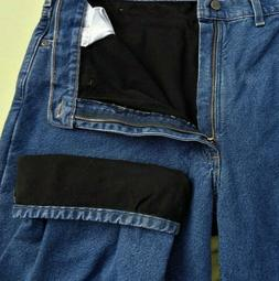 Mens new darker blue Carhartt 44 X 32 Fleece Lined B155 DST