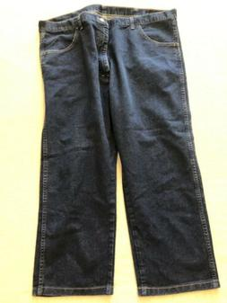 Wrangler Mens Regular Fit Stretch Jeans Size 42X30 Actual 42