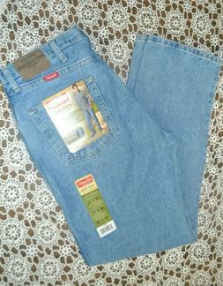 Wrangler Mens Regular Fit U-Shape Jeans 5 Star Blue Denim Si