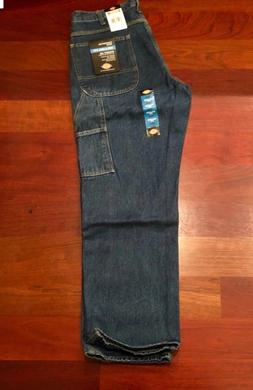Dickies Mens Relaxed Fit Carpenter Denim Blue Jeans  34W x