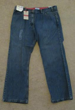 Mens Dockers Relaxed Fit Jeans Blue 40 x 30 New Flat Front
