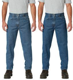Carhartt Mens Relaxed-Fit Tapered-Leg Blue Jean Workwear Den