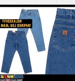 Carhartt Men's Relaxed Fit Tapered Leg Jean Five Pocket Heav