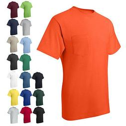 Hanes Mens Short Sleeve Tees Shirts Tops Beefy-T with a Pock
