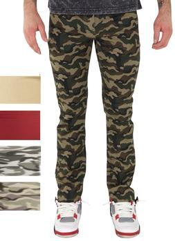 Men's Slim Skinny Pants Stretch Fabric Camo Pants Basic 5 Po