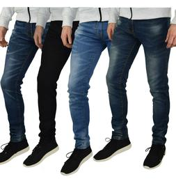 Mens Slim Fit Stretch Jeans Comfy Fashionable Super Flex Den