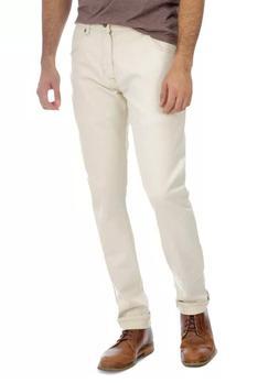 mens wrangler slim tapered jeans beige all sizes 4-20