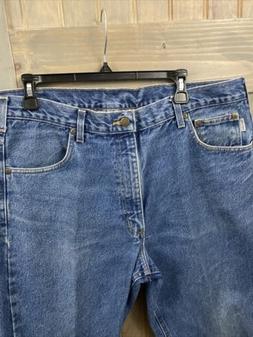 Mens Carhartt Traditional  Fit Denim Blue Jeans size 38x 32