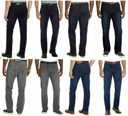 Mens Urban Star Jeans, Stretch, Relaxed, Straight Leg, Cotto