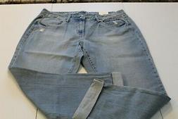 Sonoma Mid-Rise 100% Cotton Boyfriend Jeans Size 14. Retail