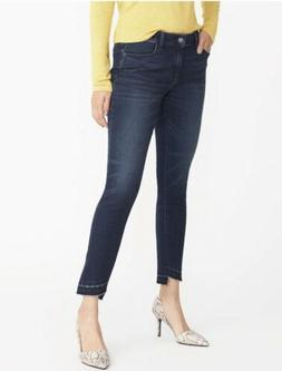 Mid-Rise Step-Hem Rockstar Jeans for Women 14 Long Tall