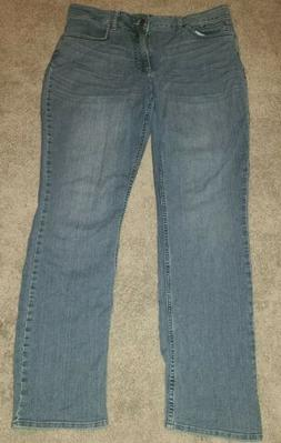 Lee Riders Mid Rise Straight Leg Blue Jeans, Size 14M, Style