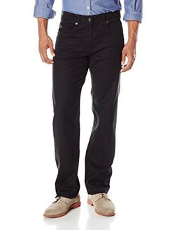 Lee Men's Modern Series Straight-Fit Jean, Black, 40W x 30L